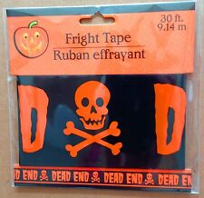 Pirate Skull Crossbones-DEAD END-Fright Caution Tape-Halloween Decoration Prop-B