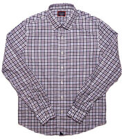 UNTUCKIT Long Sleeve Shirt Blue Purple Checks Medium M Slim Fit Wrinkle Free