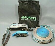 Slackers 50' Wave Walker Slackline Improve Core Strength/Balance/Tightrop e/Beam