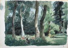 Malerei mit Hirsch mit Landschafts-Thema