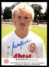 Michael Becker Autogrammkarte FSV Mainz 05 Original Signiert+A 95110
