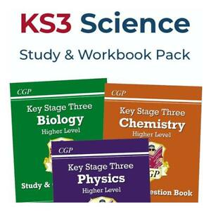 KS3 Science Practice Book Pack (Higher) | Year 7, Year 8 & Year 9 | Ages 11-14