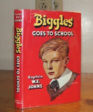 Biggles Goes to School. Captain W. E. Johns. 1952. Reprint.