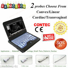 Promotion New Portable laptop machine ultrasound scanner+2 Probes,HOT