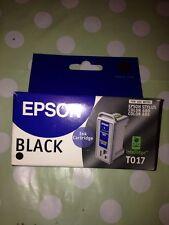 ORIGINALE Epson Cartuccia di inchiostro di stampa nero Stampante Stylus 680 685 modelli t017 NUOVO