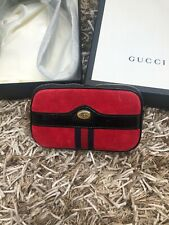 Gucci Authentic Ophidia Suede Red Belt Bag 80CM New