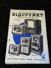 Original Service Manual Blaupunkt Fernseher Jahrgang 1954/55