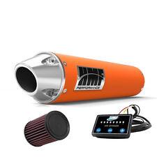 HMF Performance Slip On Exhaust Orange Euro End Cap EFI Optimizer K&N LTZ 400