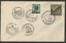 Österreich 1938 Flugpostmarke u.a. auf Brief mit 5 SStmpl
