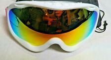 Ultra-light Ski Snowboard Goggles Anti Fog Snow Sport Red UV Protection Lens