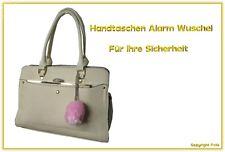 Handtaschen Alarm Wuschel Rosa 120db - Ihre Sicherheit vor Angriff + Belästigung