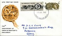 1965 700th Anniversary of Parliament First Day Cover postmark Reading
