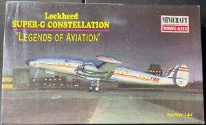 Minicraft Lockheed Super-G Constellation 1/144 FS NEW Model Kit