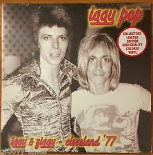 IGGY POP ~ Iggy & Ziggy Cleveland 77 David Bowie COLORED VINYL LP (NEW & SEALED)