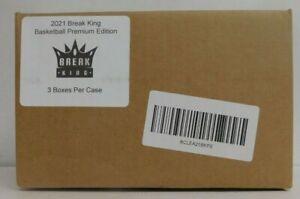 2021 BREAK KING BASKETBALL PREMIUM EDITION CASE (3 Boxes) - NEW / SEALED