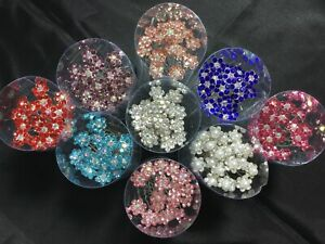 Hair Jewels.Gems.Diamante.Flowers.PINS.wedding.bride.colours.updo's.pack of 20