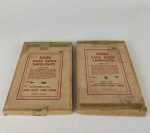 """VINTAGE BOXED Ilford Dark Room SAFELIGHTS 5x7"""" for Panchromatic Filter Plates"""