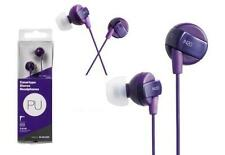 Purple Elecom IN20 Stereo Canal Type In-Ear Headphones Earbuds Bass Line