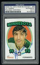 J.P. Parise (d. 2015) signed autograph 2009 ITG 1972 Year in Hockey PSA Slabbed