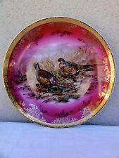 Bavaria Stw Pheasant Charger Pink - Germany - Gold Edges Plate - Fantastic