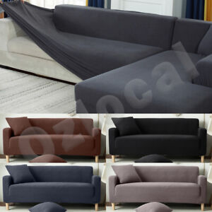 Sofa Cover Slipcover Protector Couch High Stretch Lounge 1/2/3/4 Seater L Shape