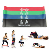 Set of 4 Rubber Resistance Bands Fitness Workout Elastic Training Band Yoga