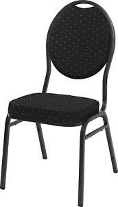 Lobu schwarz Saalstuhl Stapelstuhl Stapelstühle Bankettstuhl Pokerstuhl Stuhl