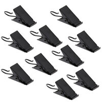 10Pcs Curtain Clips with Hook Shower Curtain Panel Hanger Clamp 38mm Black