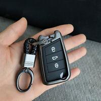 Men Creative Metal Leather KeyChain Ring Keyfob Car Key chain Keyring Holder