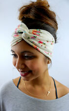 Cotton Jersey HeadBand Turban Cream English Rose Turband Wrap High quality