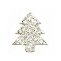 Rhinestone Christmas tree Charm Chunk Snap Button for Noosa Bracelet Necklace #9