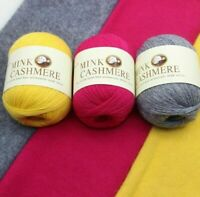 Mongolian Yarn Mink Wool Cashmere Hand Knitting Ball Sweater Scarf Red Pink Blue