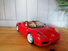 Ferrari 360 Spider Hot wheels red inc Scuderia shileds fitted 1:18 scale