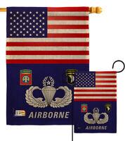 Applique Garden Flags Pack US India Friendship GP108403-BOAA USA Vintage