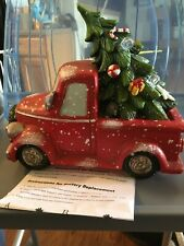BRAND NEW NOSTALGIC LIL' RED PICK-UP TRUCK W/ATTACHED LIGHTED CHRISTMAS TREE