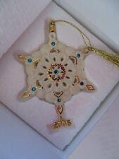 Lenox 2005 Annual Gemmed Snowflake Ornament 24k Gold Brand New W/Coa