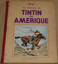 TINTIN - 3 - / Tintin en Amérique / A14 bis  N&B 1941 / BE+