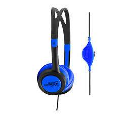 Urbanz VIBE Lightweight Headphones w. Volume Control for iPhone Samsung - D.Blue