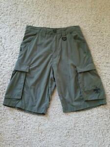 Boy Scouts of America BSA Centennial Green Nylon Uniform Shorts, Size Adult XS