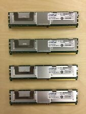 Four 4GB (16gb total) Crucial ECC Memory, DDR2 PC2-5300, 240-pin DIMM