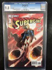 SUPERGIRL # 1 Second Printing  / The New 52! / CGC 9.8 / Nov 2011 / DC COMICS