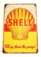 New Shell Oil Gas Station Tin Sign Vintage Retro Style Ad Man Cave Garage