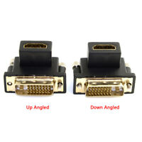 Cablecc 90 Degree Down Angled DVI Male to HDMI Female Adapter for Computer HDTV