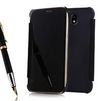 Etui Coque Miroir Clair en Plastique Rigide Livre Samsung Galaxy J7 (2017) J730F