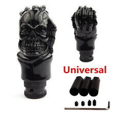 Universal Black Car Truck Skull Head Manual Gear Stick Shift Knob Shifter Lever