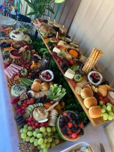 Lg Grazing Board Cheese Platter Charcuterie Board 2 Tier One with Legs Flat Pack