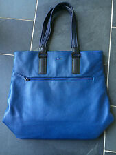 "Paul Smith ""EMILE"" Blue Leather Tote Bag"