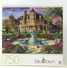 BIG BEN 750 Pc Jigsaw Puzzle Victorian Mansion Grounds 2020 Hasbro New