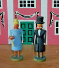 b German ERZGEBIRGE Wood Carved Christmas Village people Wedding couple Party