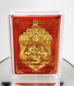 Elephant 3 Heads Coin Phra LP Pat Phat Monk Talisman Thai Buddha Magic Amulet